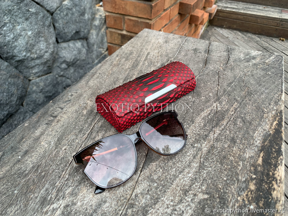 Python leather eyeglass case, Eyeglass case, Moscow,  Фото №1
