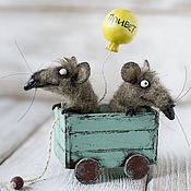 Куклы и игрушки ручной работы. Ярмарка Мастеров - ручная работа Мыши с приветом. Handmade.