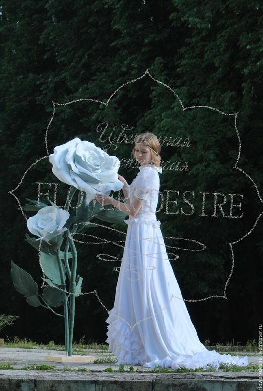 Цветы ручной работы. Ярмарка Мастеров - ручная работа. Купить Белый куст розы. Handmade. Белый, кустовая роза, роза