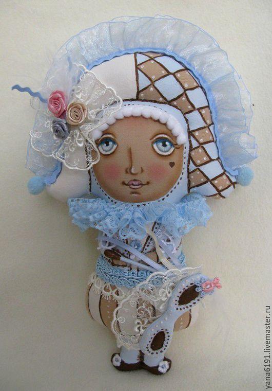 Человечки ручной работы. Ярмарка Мастеров - ручная работа. Купить Венецианский кавалер в голубом.. Handmade. Голубой, венеция, интерьерная кукла