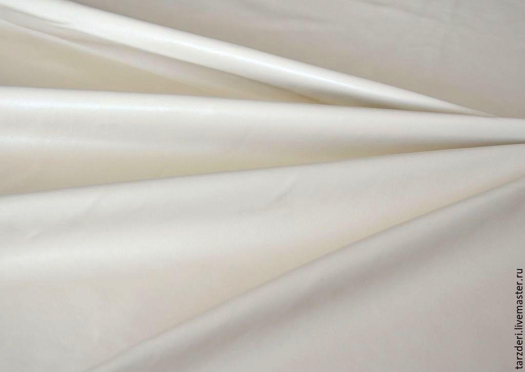 Кремовая натуральная кожа для цветов 0,5 мм, Кожа, Анкара,  Фото №1