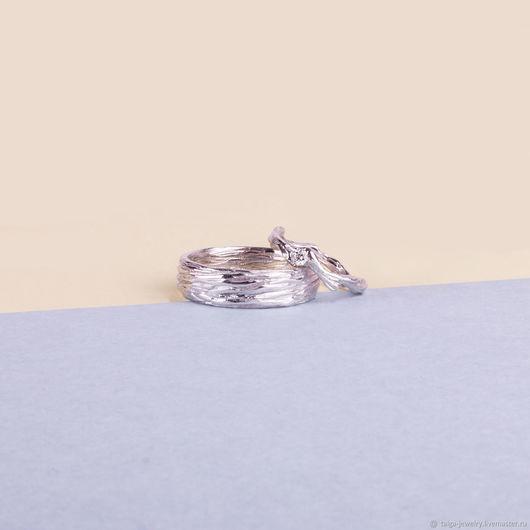 """Свадебные украшения ручной работы. Ярмарка Мастеров - ручная работа. Купить Обручальные кольца """"Веточка и кора""""  (taiga_jewelry). Handmade. обручалки"""