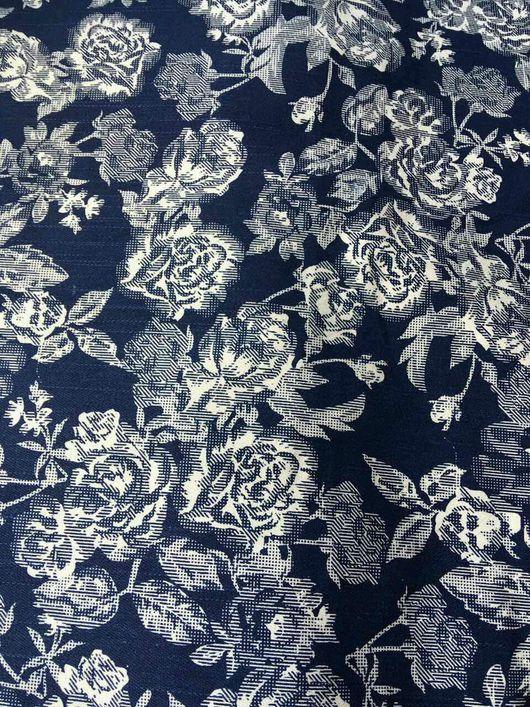 """Шитье ручной работы. Ярмарка Мастеров - ручная работа. Купить Джинса """"Белые Розы"""". Handmade. Джинса, ткань, хлопковая джинса"""