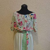Одежда ручной работы. Ярмарка Мастеров - ручная работа Летнее платье 4. Handmade.