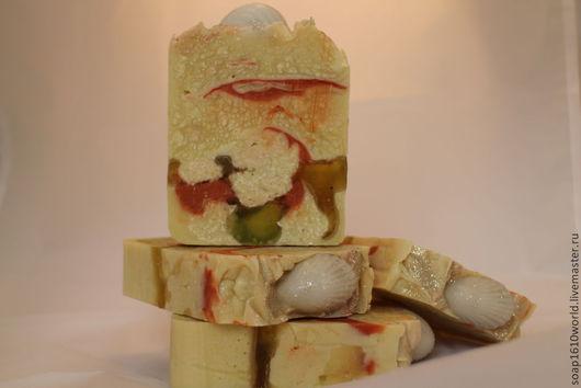 Мыло ручной работы. Ярмарка Мастеров - ручная работа. Купить мыло с нуля   Ракушки. Handmade. Разноцветный, мыло ручной работы