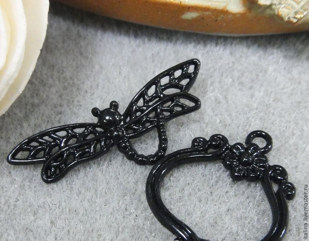 Lock toggle Black dragonfly art. 3-35, Accessories4, Moscow,  Фото №1