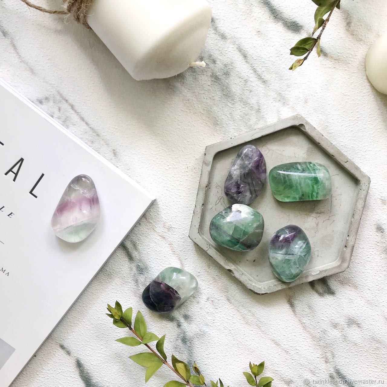 Set of crystals of fluorite, Minerals, Moscow,  Фото №1