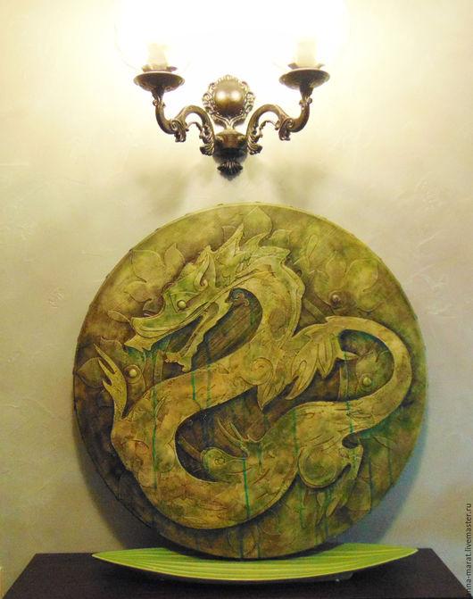 """Этно ручной работы. Ярмарка Мастеров - ручная работа. Купить панно """"Дракон"""". Handmade. Дракон, Индонезия, оформление интерьера, дерево"""