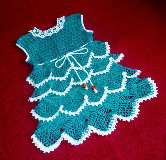 Одежда для девочек, ручной работы. Ярмарка Мастеров - ручная работа. Купить ПЛАТЬЕ ДЛЯ ПРИНЦЕССЫ. Handmade. Тёмно-бирюзовый