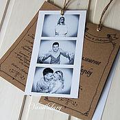 Свадебный салон ручной работы. Ярмарка Мастеров - ручная работа Приглашение- карточка Меловый стиль. Handmade.