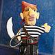 """Кукольный театр ручной работы. Ярмарка Мастеров - ручная работа. Купить кукла-перчатка """"Пират"""". Handmade. Кукла-перчатка, подарок"""