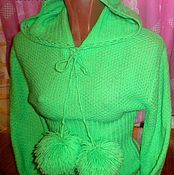 Одежда handmade. Livemaster - original item Knitted jumper with hood.. Handmade.