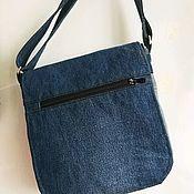 Мужская сумка ручной работы. Ярмарка Мастеров - ручная работа Мужская джинсовая сумка. Handmade.