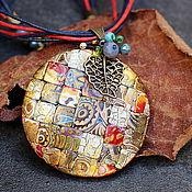 Украшения ручной работы. Ярмарка Мастеров - ручная работа кулон из полимерной глины мозаика 9 яркий. Handmade.