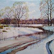 Картины и панно handmade. Livemaster - original item Oil painting early Spring. Handmade.