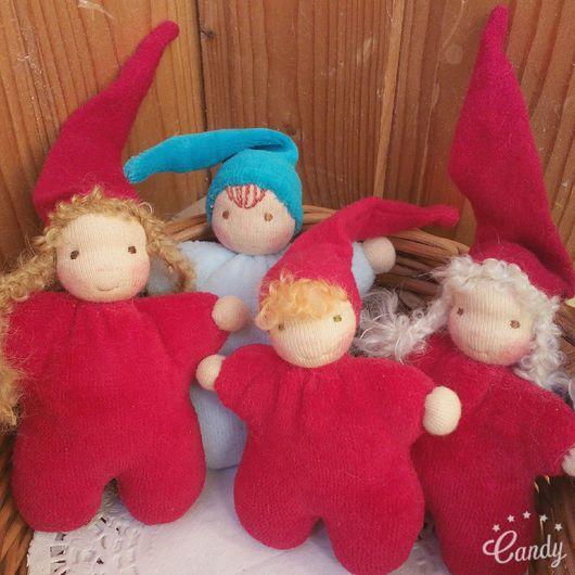 Вальдорфская игрушка ручной работы. Ярмарка Мастеров - ручная работа. Купить Вальдорфская кукла Гномы Пампушата 10-12 см. Handmade.