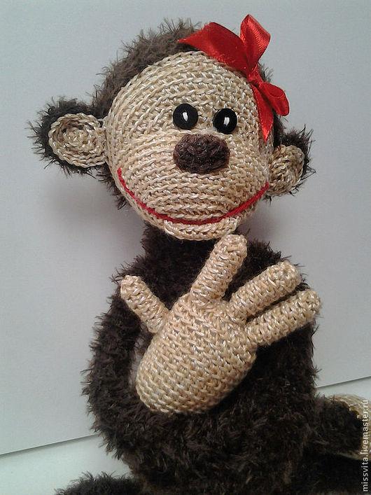 Игрушки животные, ручной работы. Ярмарка Мастеров - ручная работа. Купить Вязаная весёлая обезьянка. Handmade. Игрушка, для дома и интерьера