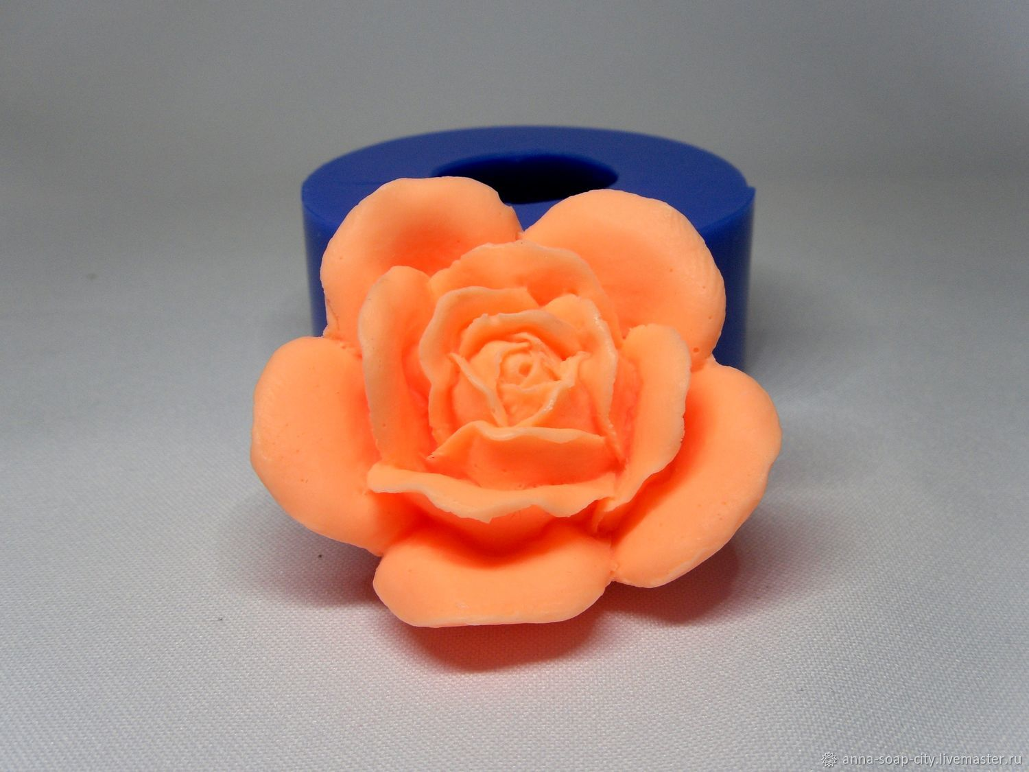 Silicone mold for soap and candles ' rose №3', Form, Arkhangelsk,  Фото №1