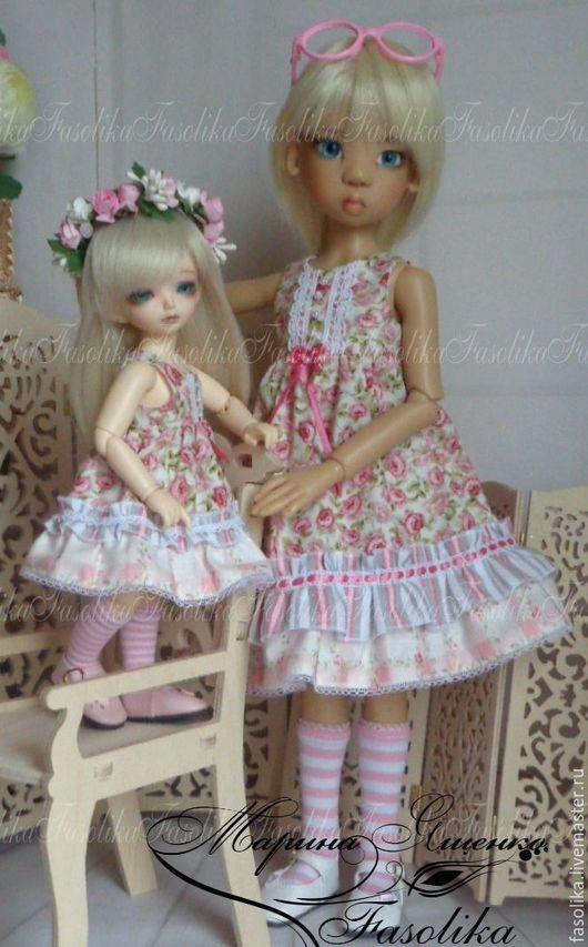 """Одежда для кукол ручной работы. Ярмарка Мастеров - ручная работа. Купить """"Familly Look"""" (Фэмили Лук). Handmade. Бледно-розовый"""