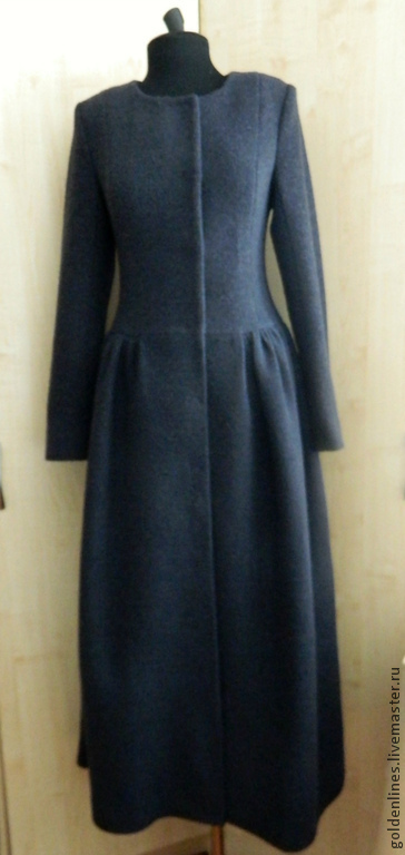 Верхняя одежда ручной работы. Ярмарка Мастеров - ручная работа. Купить пальто принцесса. Handmade. Тёмно-синий, пальто демисезонное
