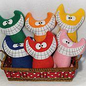 Куклы и игрушки ручной работы. Ярмарка Мастеров - ручная работа Улыбчивые коты. Handmade.