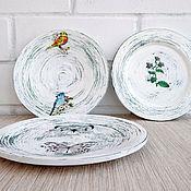 Посуда ручной работы. Ярмарка Мастеров - ручная работа Очень старые тарелки. Настенные, декоративные.. Handmade.
