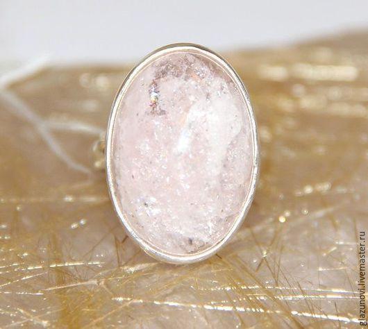 Кольца ручной работы. Ярмарка Мастеров - ручная работа. Купить Серебряное кольцо (925) с бериллом (морганит). Handmade. Бледно-розовый