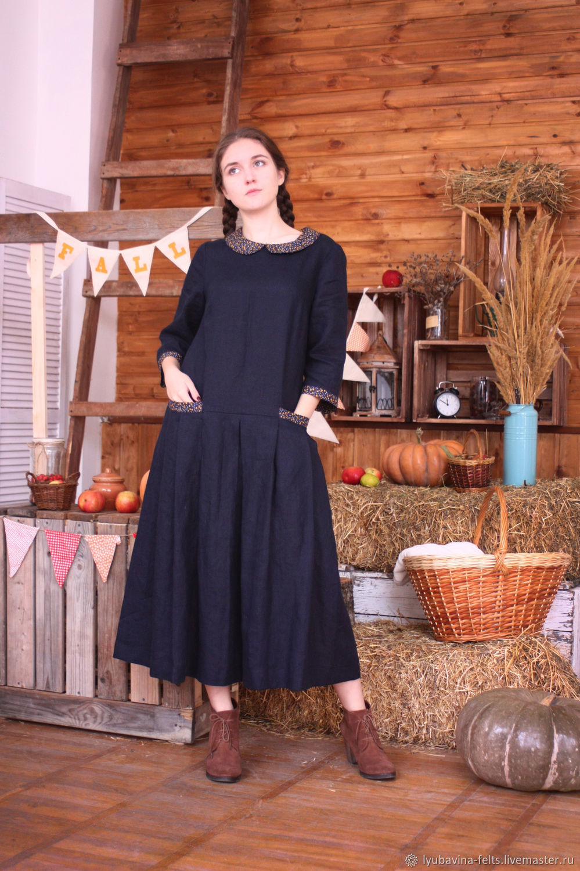 купить лен платье размер