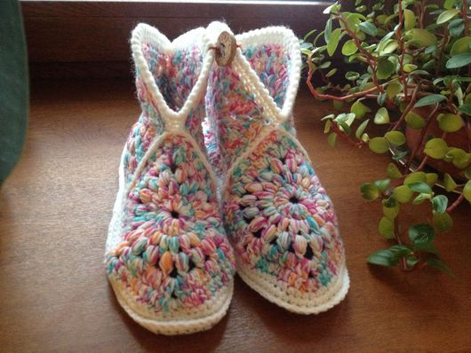 Обувь ручной работы. Ярмарка Мастеров - ручная работа. Купить домашние тапочки. Handmade. Домашние тапочки, 100% шерсть