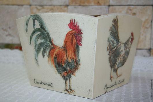 Корзины, коробы ручной работы. Ярмарка Мастеров - ручная работа. Купить Короб для кухни. Handmade. Короб, цыпленок