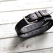 Аксессуары handmade. Livemaster - original item Handmade Men`s Genuine Leather Belt black. Handmade.