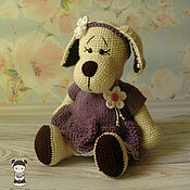 Материалы для творчества handmade. Livemaster - original item Master class on crochet Charming dogs. Handmade.