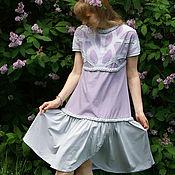 Одежда handmade. Livemaster - original item Linen dress Lilac fairy tale, boho dress made of linen summer. Handmade.
