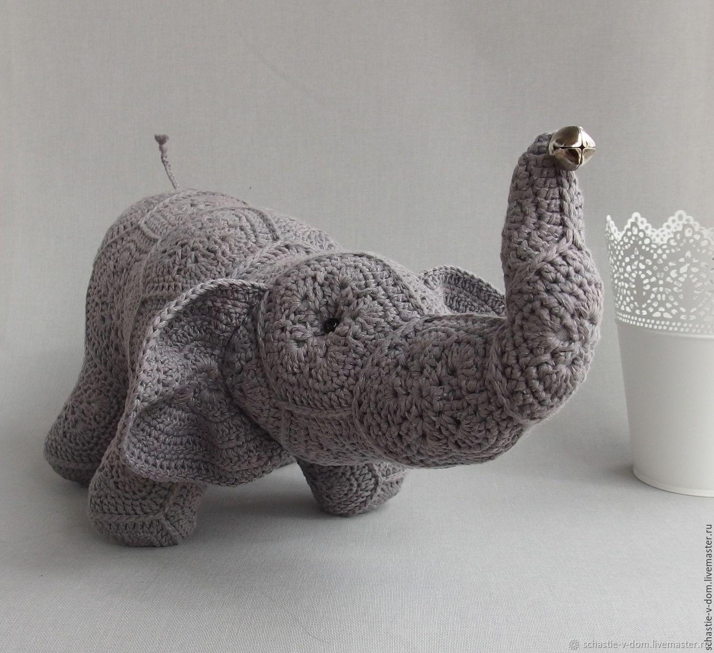 Игрушки животные, ручной работы. Ярмарка Мастеров - ручная работа. Купить Серый слоник. Handmade. Слон, фен-шуй, на удачу