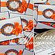 Свадебные аксессуары ручной работы. Приглашения оранжево-синие. Татьяна (ab122). Интернет-магазин Ярмарка Мастеров. Приглашения на свадьбу