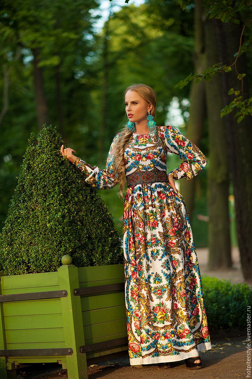 Сарафан из русского платка своими руками