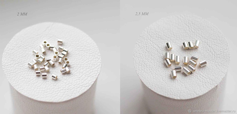 Кримпы серебро 925  (2 размера на выбор), Фурнитура, Рязань,  Фото №1