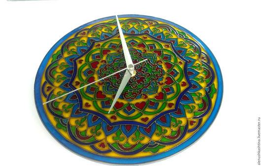"""Часы для дома ручной работы. Ярмарка Мастеров - ручная работа. Купить Часы настенные """"Узбекские узоры"""". Handmade. Комбинированный, восток"""
