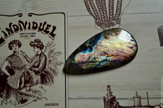 Для украшений ручной работы. Ярмарка Мастеров - ручная работа. Купить Лабрадорит спектролит. Кабошон 56 Х 29 Х 4. Handmade.