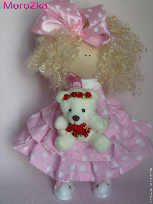 Коллекционные куклы ручной работы. Ярмарка Мастеров - ручная работа. Купить Девочка Горошинка. Handmade. Текстильная кукла, искусственная кожа
