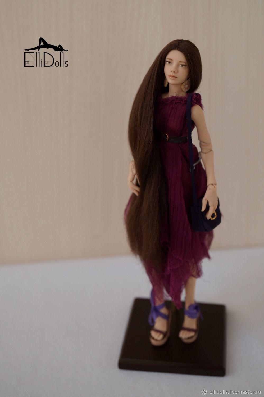 13,5 cm Loretta. Miniature jointed doll from Ellidolls, Ball-jointed doll, Krasnodar,  Фото №1