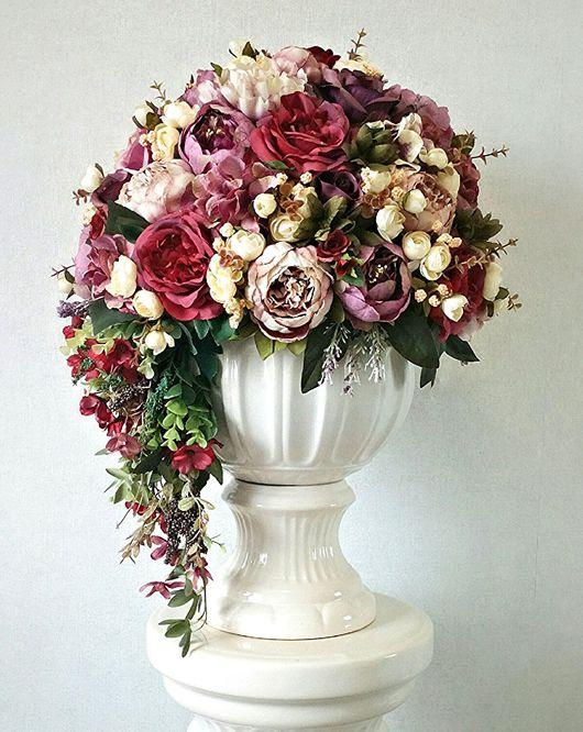 Свадебные цветы ручной работы. Ярмарка Мастеров - ручная работа. Купить Композиция Изабелла. Handmade. Комбинированный, декор дома, сезаль