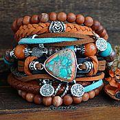 Украшения handmade. Livemaster - original item Blue bracelet on the hand of boho style