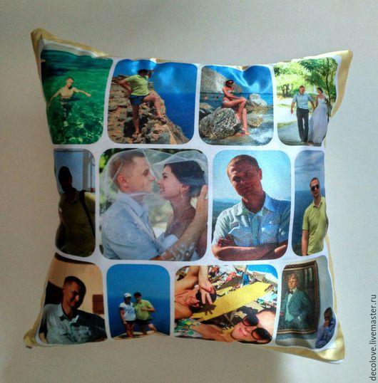 Подарки для мужчин, ручной работы. Ярмарка Мастеров - ручная работа. Купить Подушка с фото подарок на 23 февраля мужчине подарок на 14 февраля. Handmade.