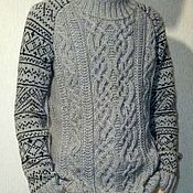 "Одежда handmade. Livemaster - original item Knitted sweater ""Scandinavia"". Handmade."
