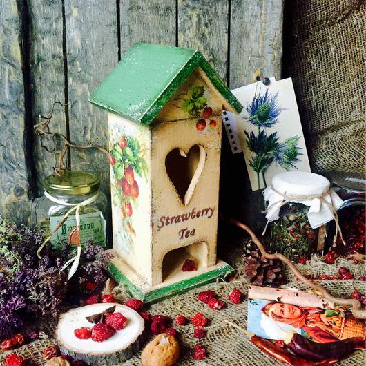 """Кухня ручной работы. Ярмарка Мастеров - ручная работа. Купить Чайный домик """"Клубничный чай"""". Handmade. Чайный домик, для кухни"""