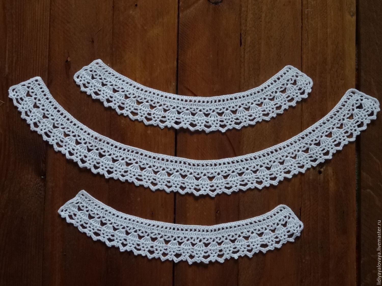 Воротничок и манжеты крючком / вязание для детей / в рукоделии.