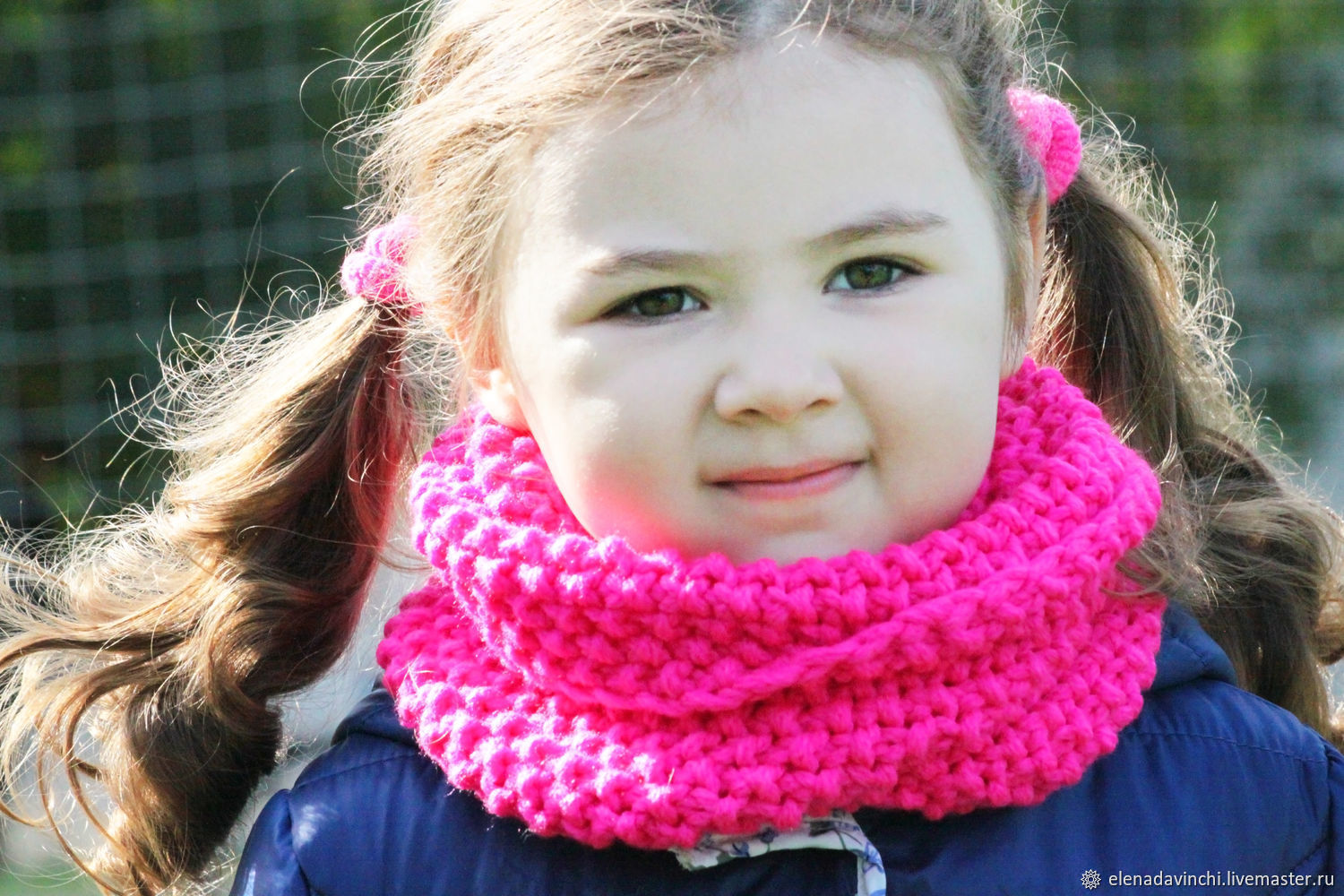 Snood for girls knitted 'Neon', Snudy1, Moscow,  Фото №1