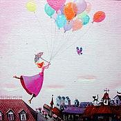 """Картины ручной работы. Ярмарка Мастеров - ручная работа Картина маслом """"Воздушные сны"""".. Handmade."""