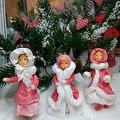 Куклы и игрушки ручной работы. Ярмарка Мастеров - ручная работа Ватная ёлочная игрушка. Handmade.